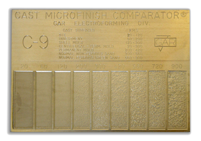 Cast Microfinish Comparator