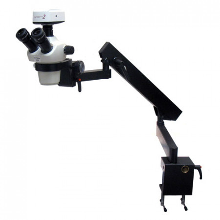 Zoom Stereo Microscope on Flex Arm Stand