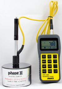 Phase II Portable Hardness Tester for 1.0 inch or thicker materials