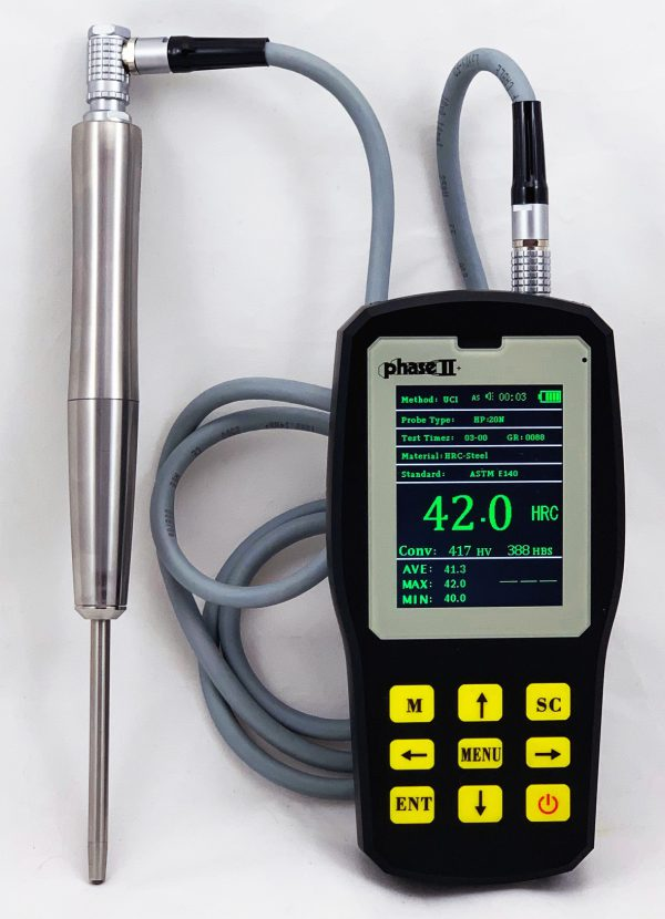 Phase II Ultrasonic Hardness Tester with 1 kg-10 kg Manual Probe